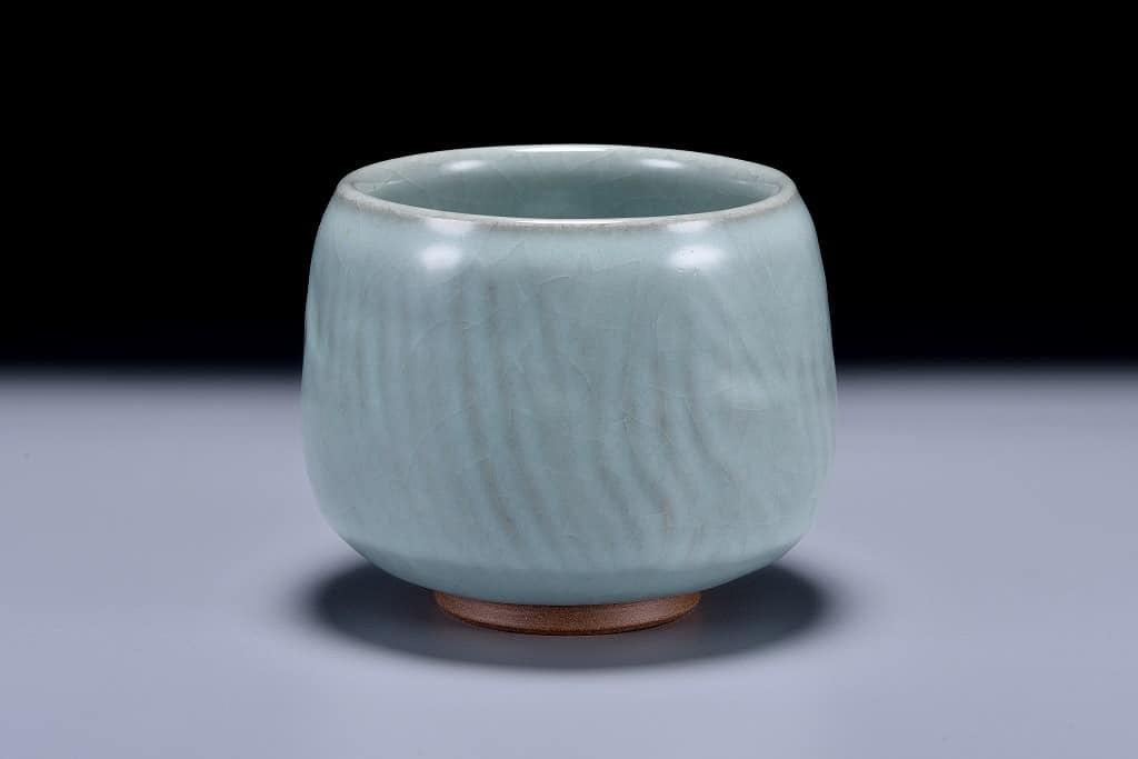 青瓷茶碗,粉青