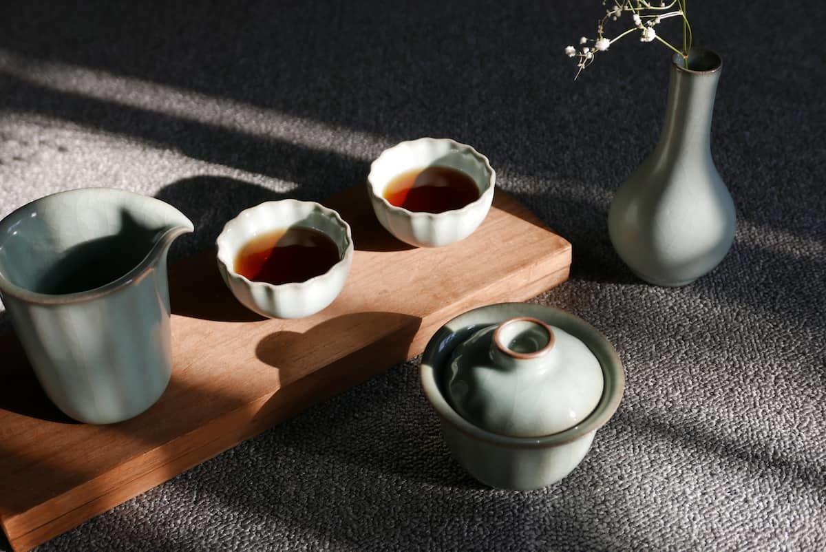 汝窯青瓷茶具